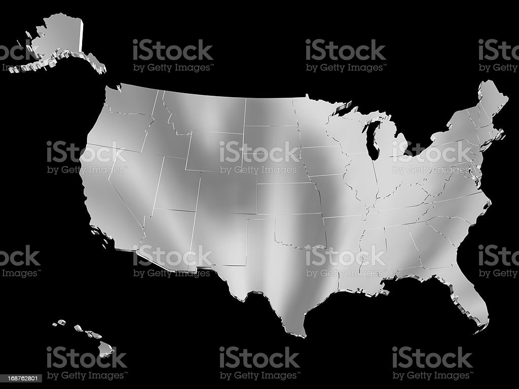 Map of USA royalty-free stock photo