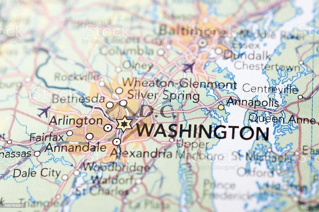 Map of Washington stock photo