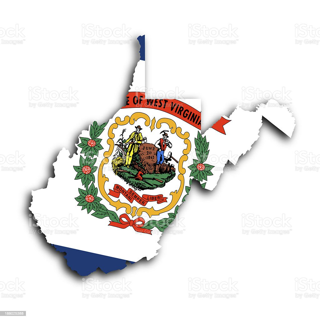 Map of West Virginia stock photo