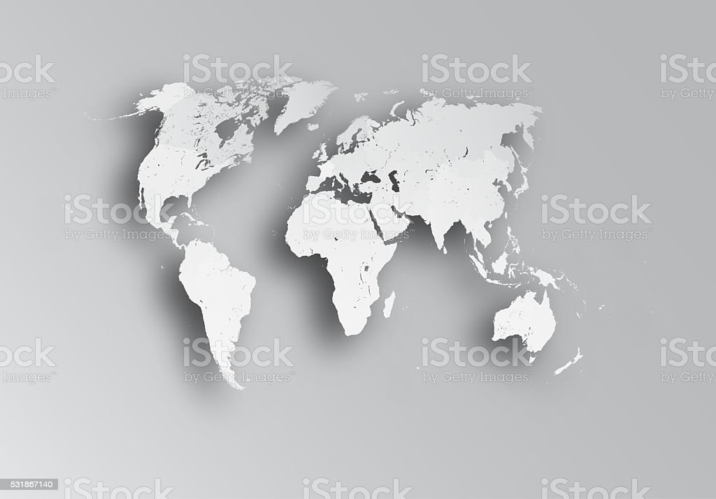Map of world. stock photo