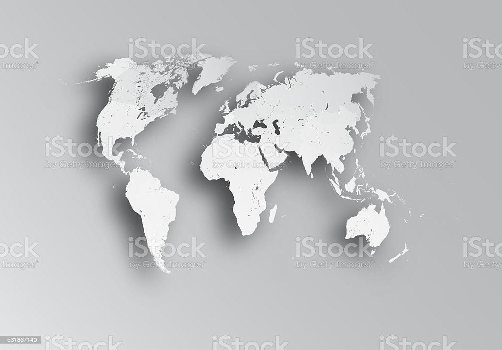 Map of world. stock photo