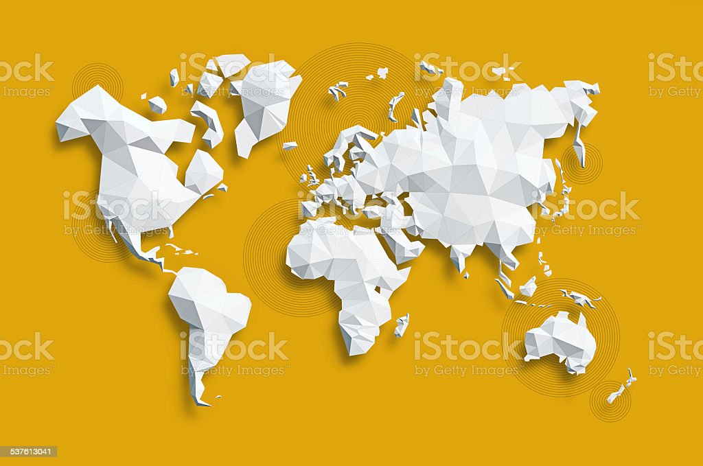 Map of World stock photo