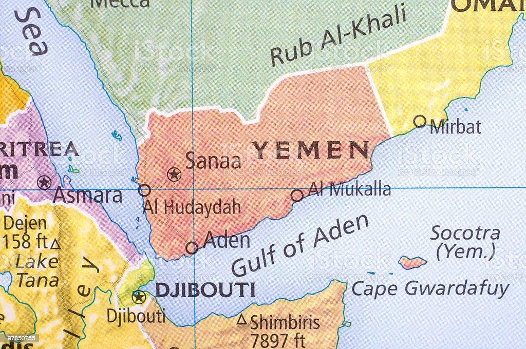Map Of Yemen stock photo