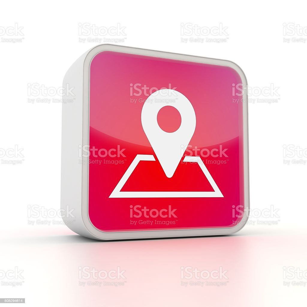 map or location computer icon stock photo