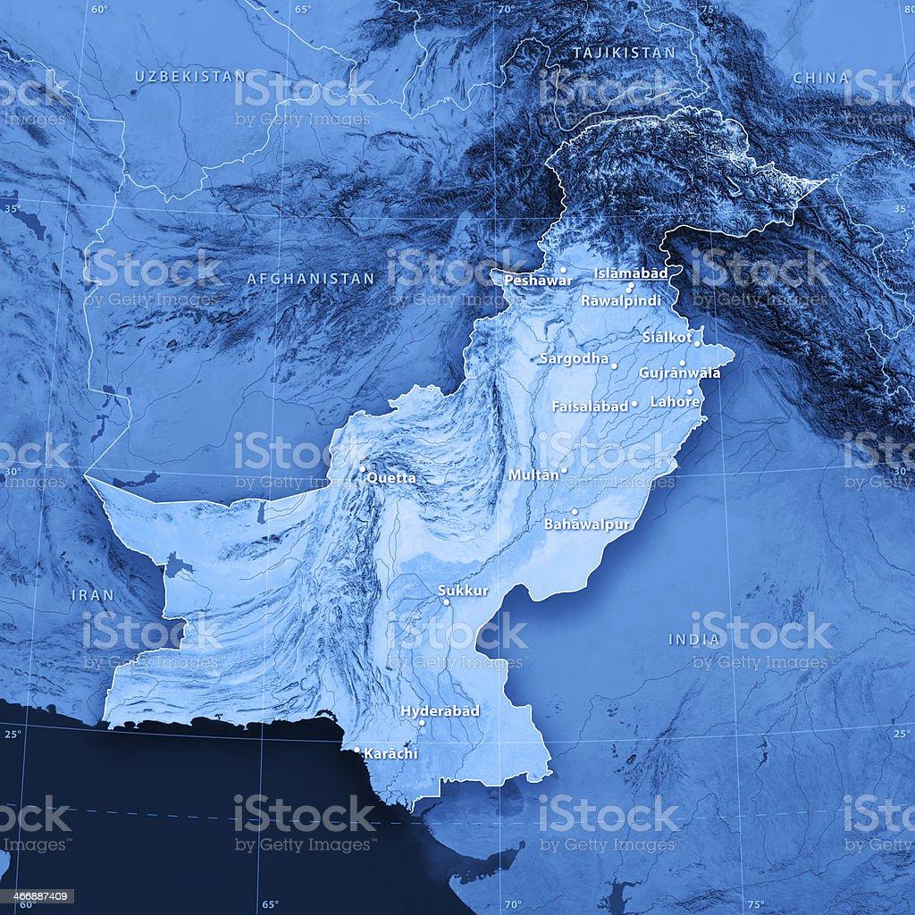 Map Pakistan (english version) stock photo
