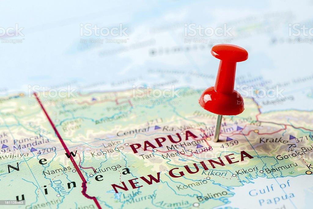 Map Papua New Guinea stock photo
