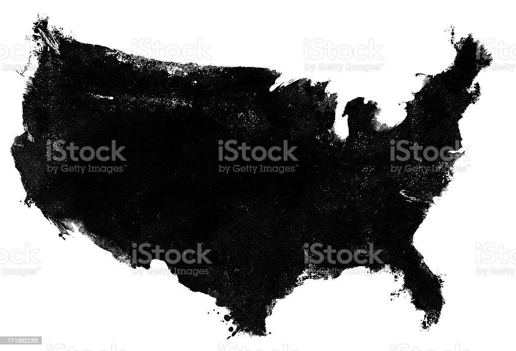 USA map photocopy grunge royalty-free stock photo