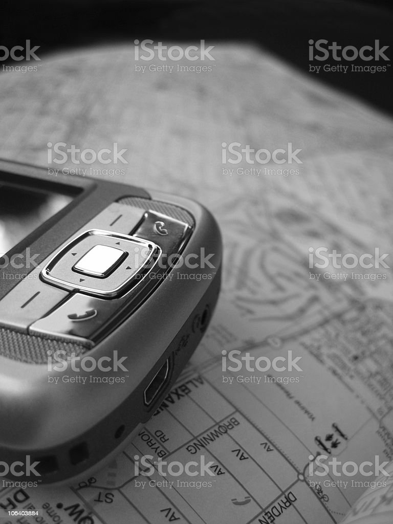 PDA Map stock photo