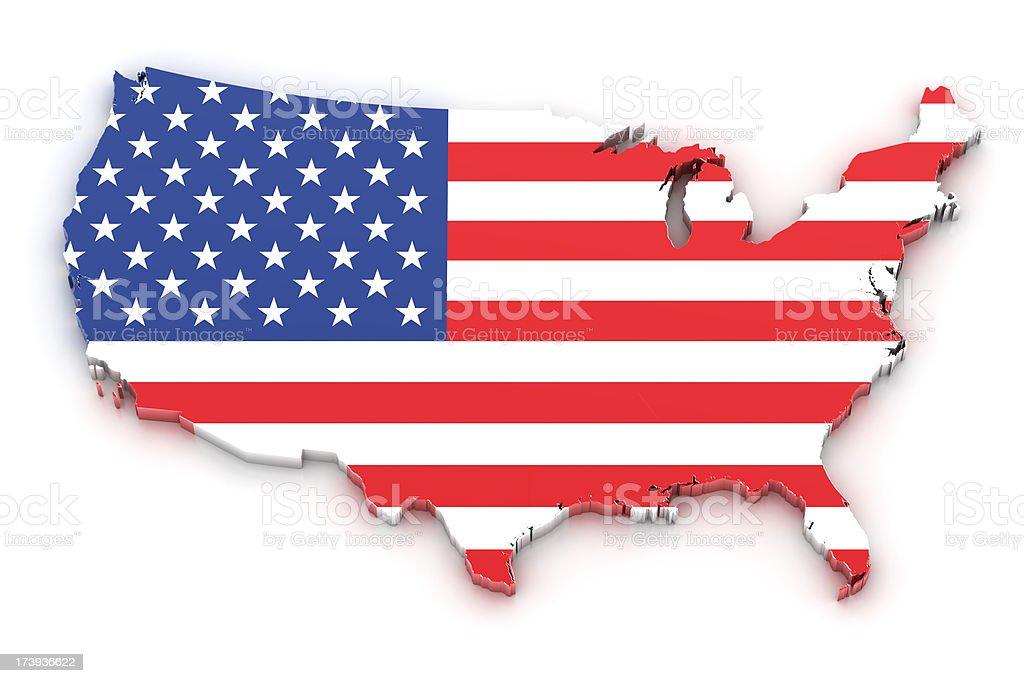 USA map royalty-free stock photo
