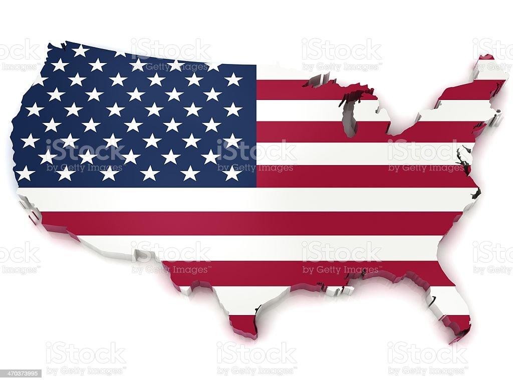 USA Map stock photo