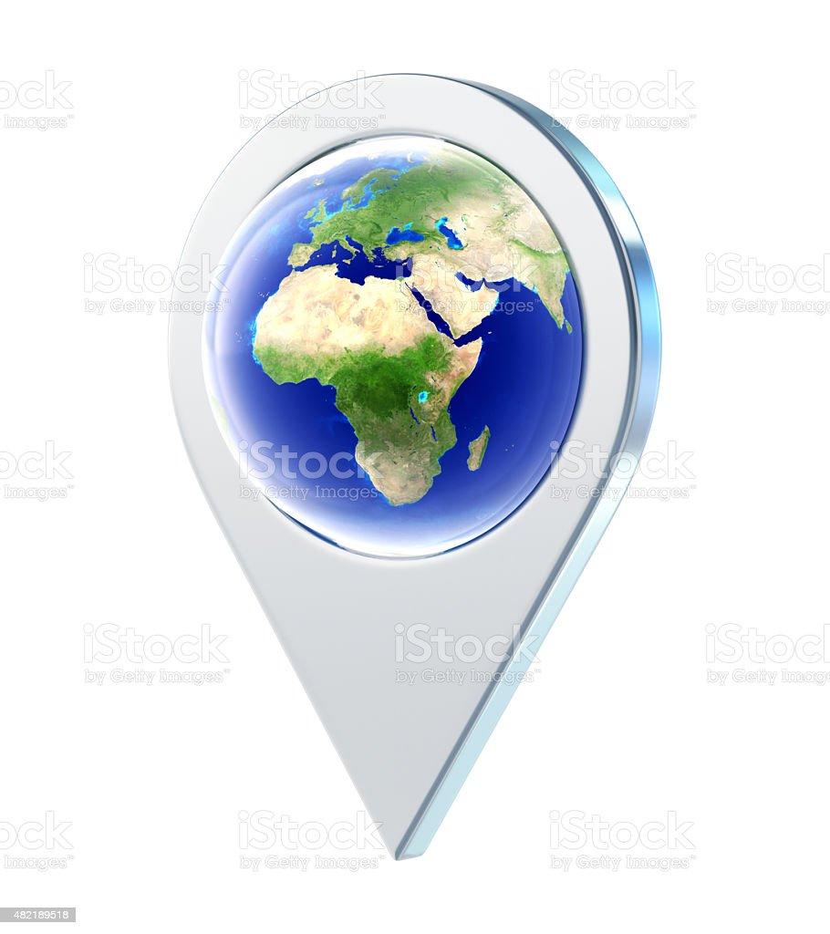 Map Pointer stock photo