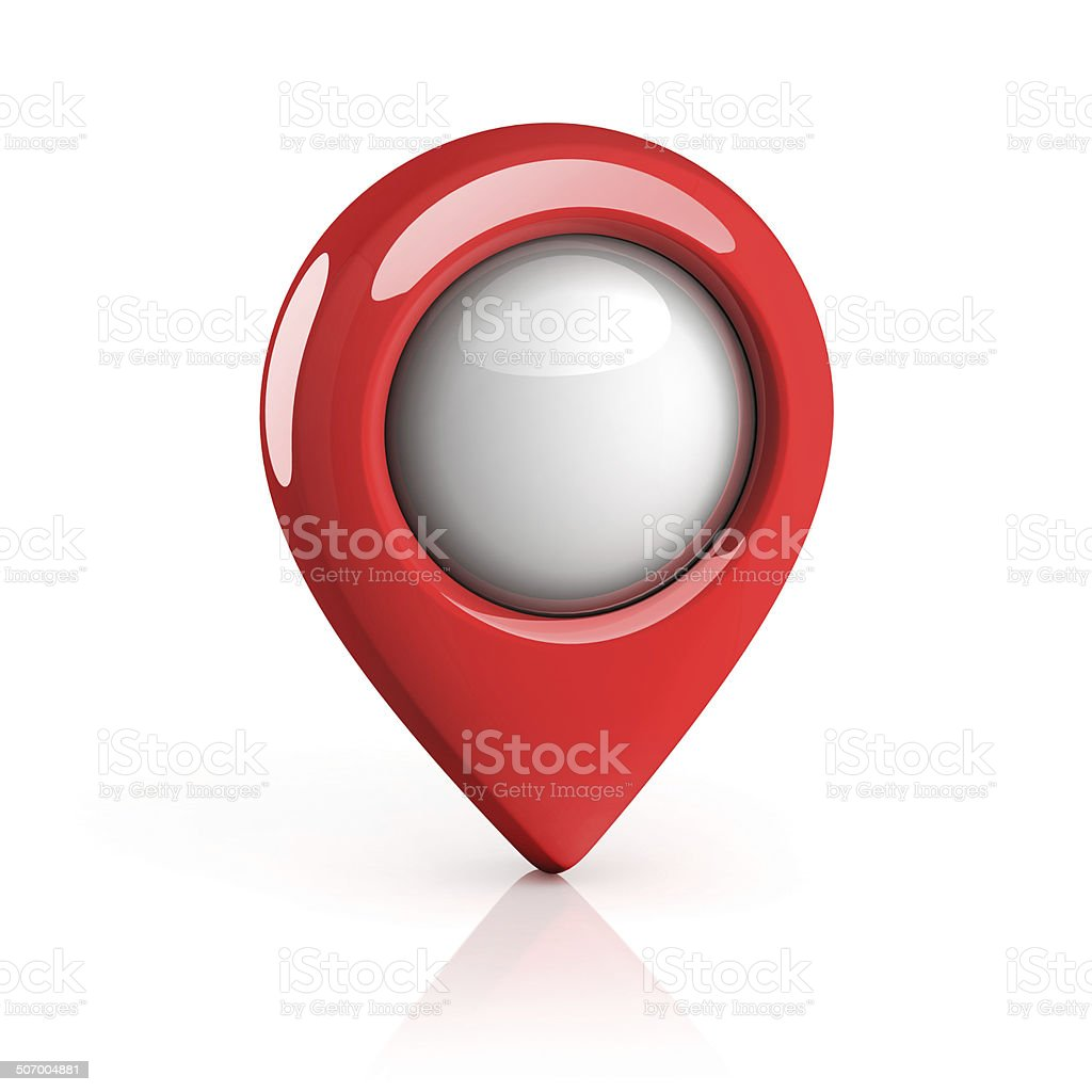 map pointer stock photo