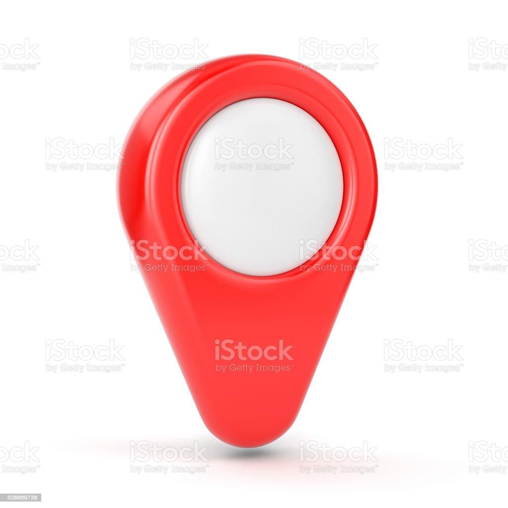 GPS map pointer stock photo