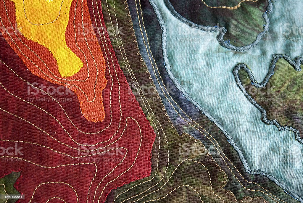 Map Quilt stock photo