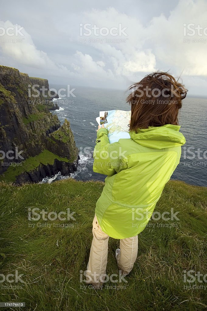 Map reading royalty-free stock photo