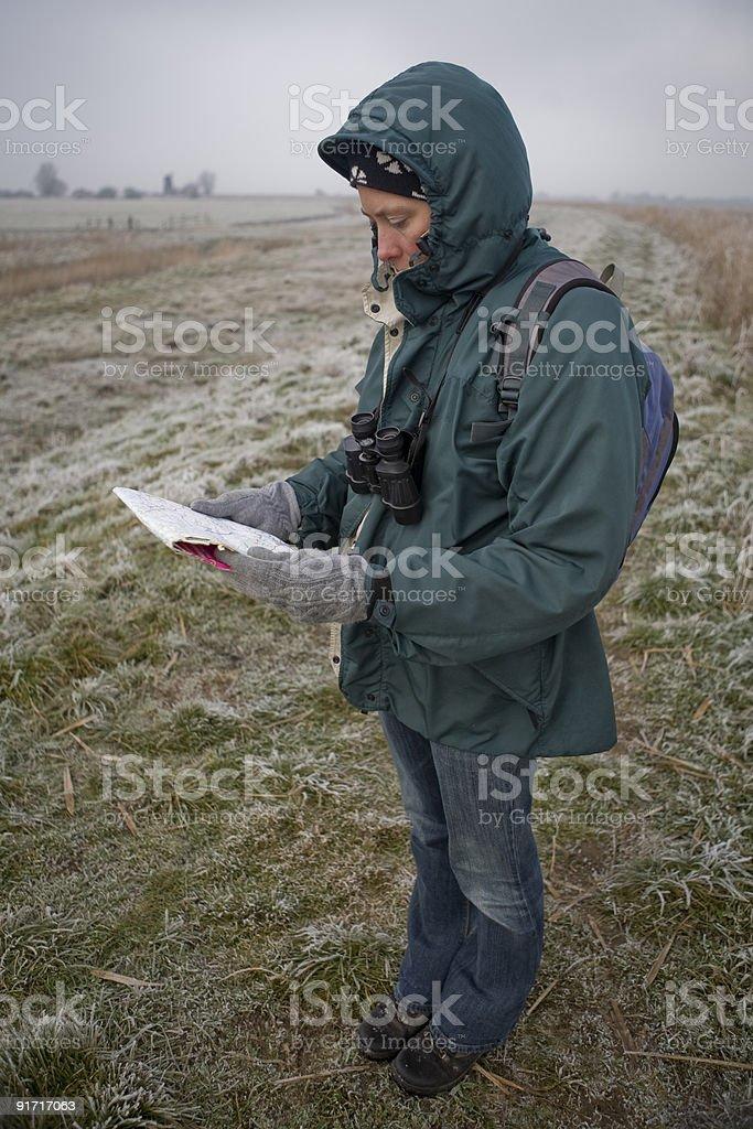 Map reading royalty-free stock photo