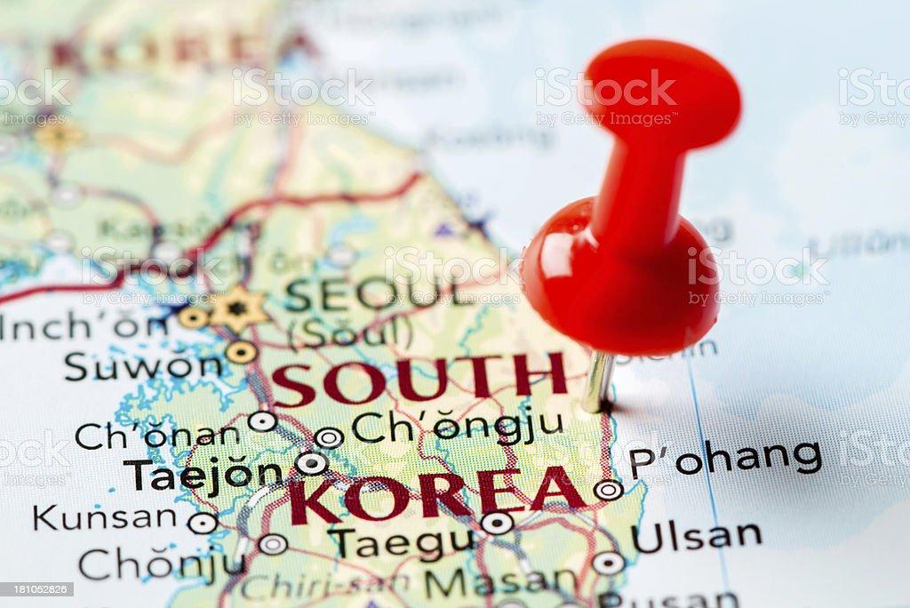 Map South Korea royalty-free stock photo