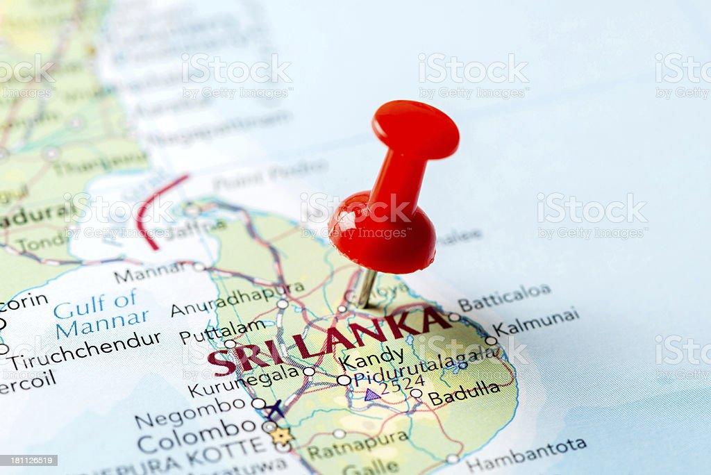 Map Sri Lanka stock photo