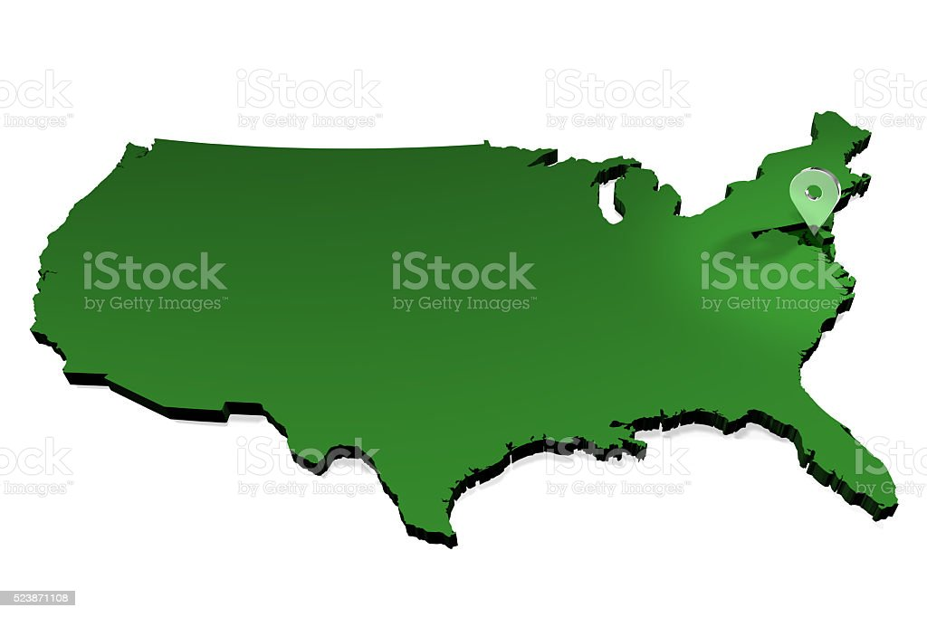 USA Map - State Locator - Maryland stock photo