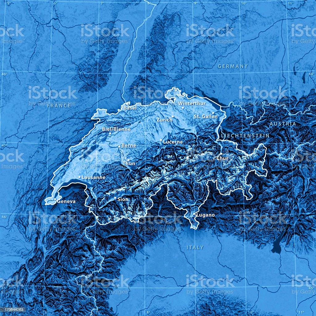 Map Switzerland (english version) royalty-free stock photo