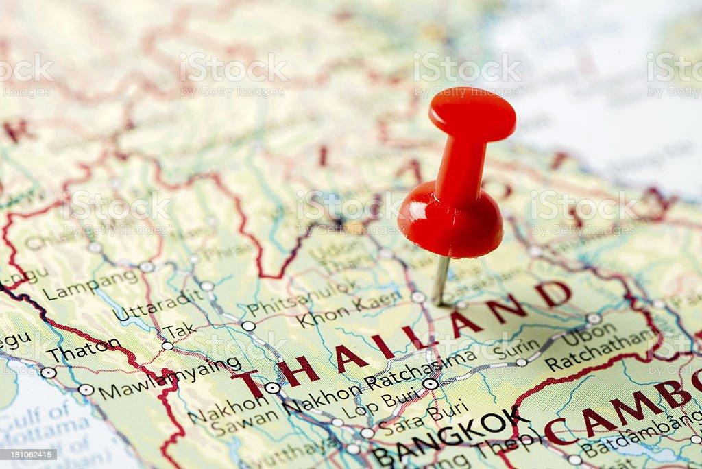 Map Thailand royalty-free stock photo