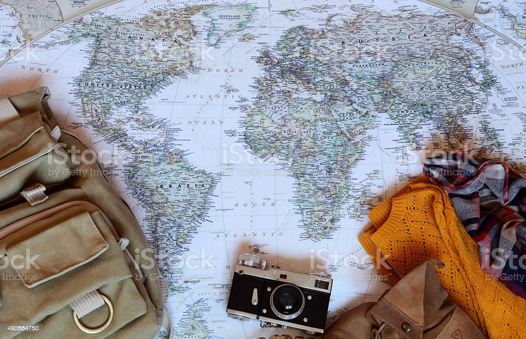 Map Traveller stock photo