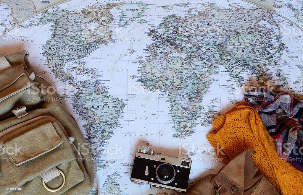 Map Traveller stock photo