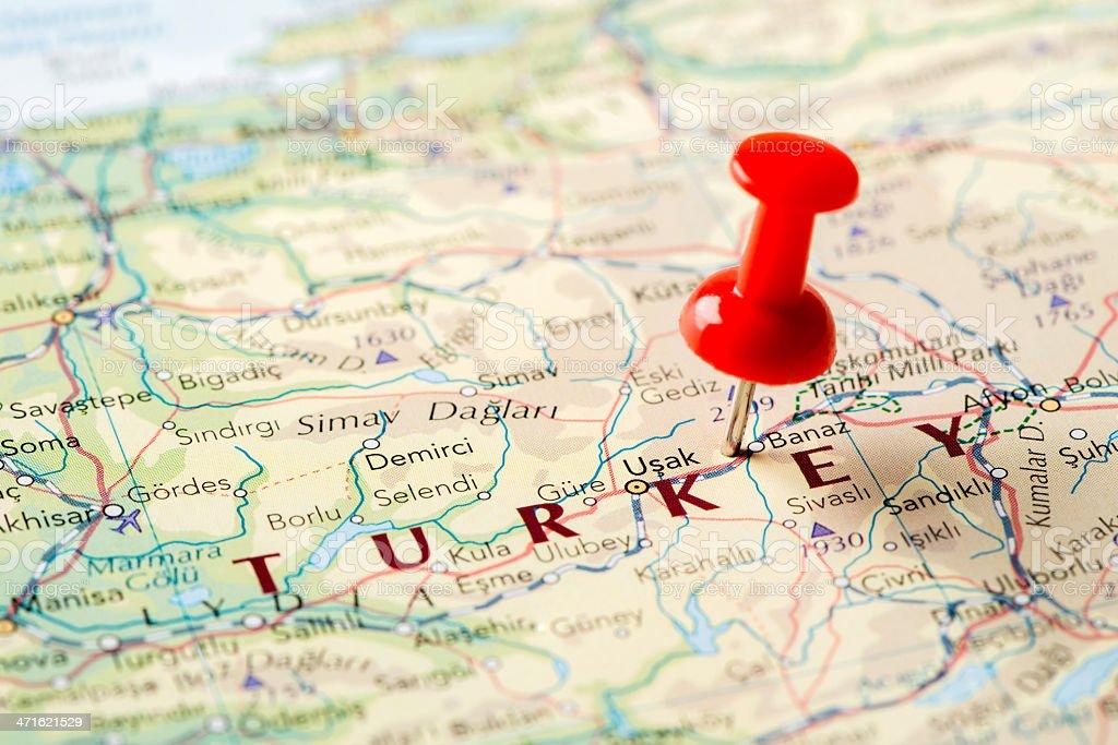 Map Turkey royalty-free stock photo