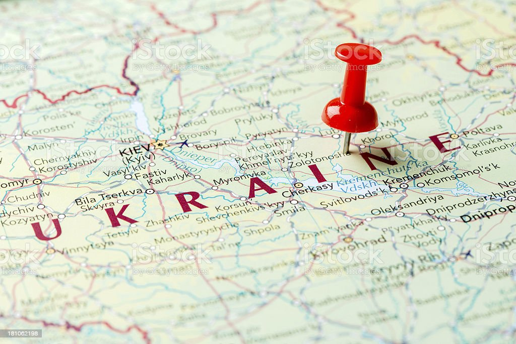 Map Ukraine royalty-free stock photo