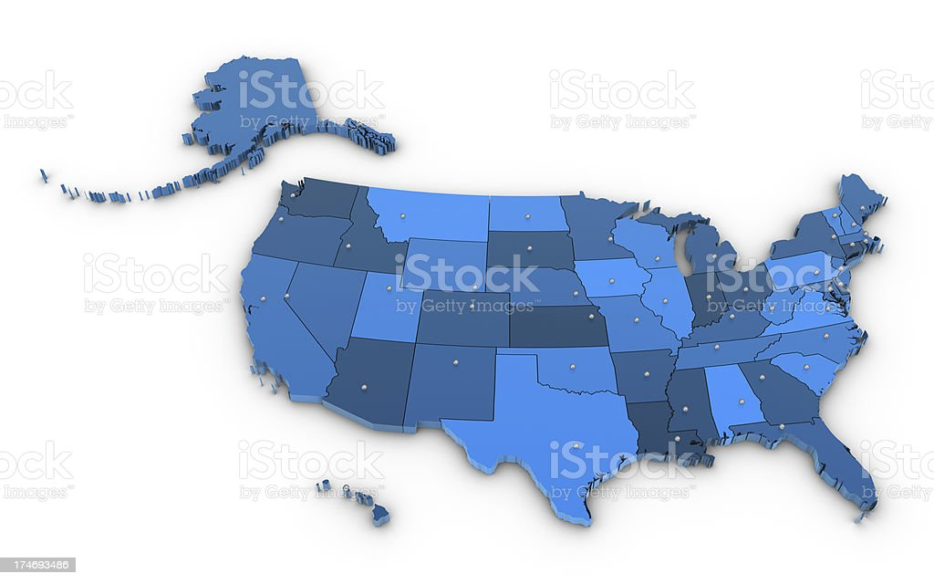 Map USA royalty-free stock photo
