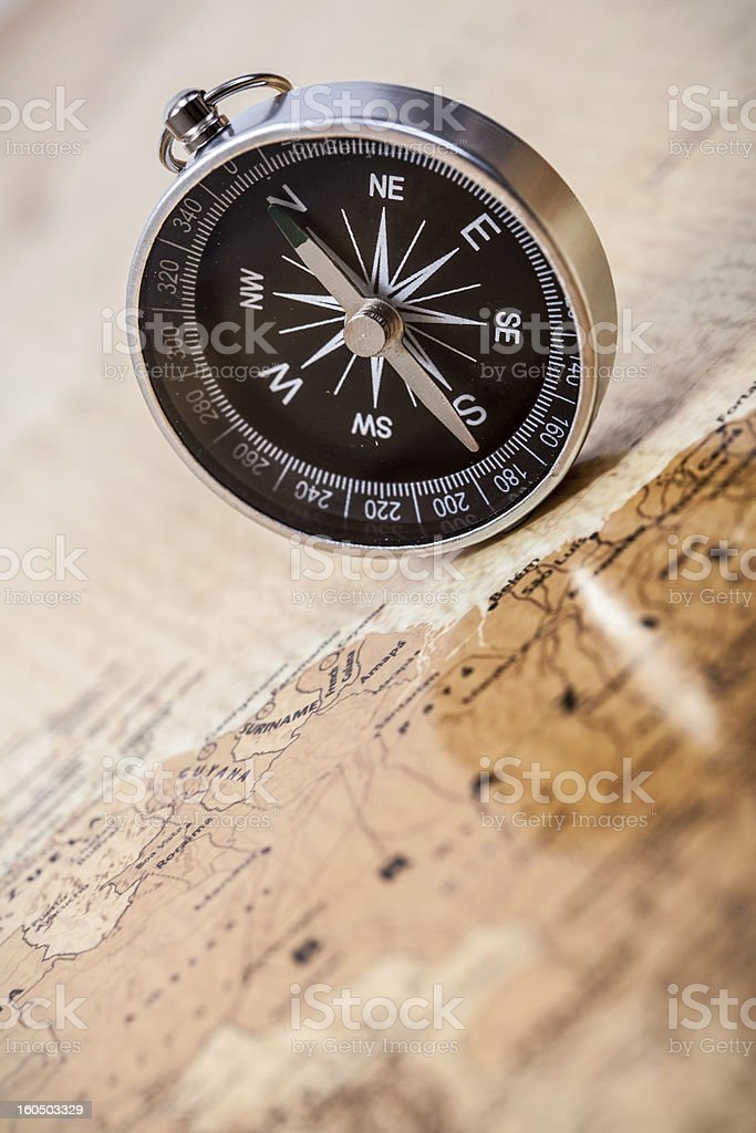 Map with Compass royalty-free stock photo