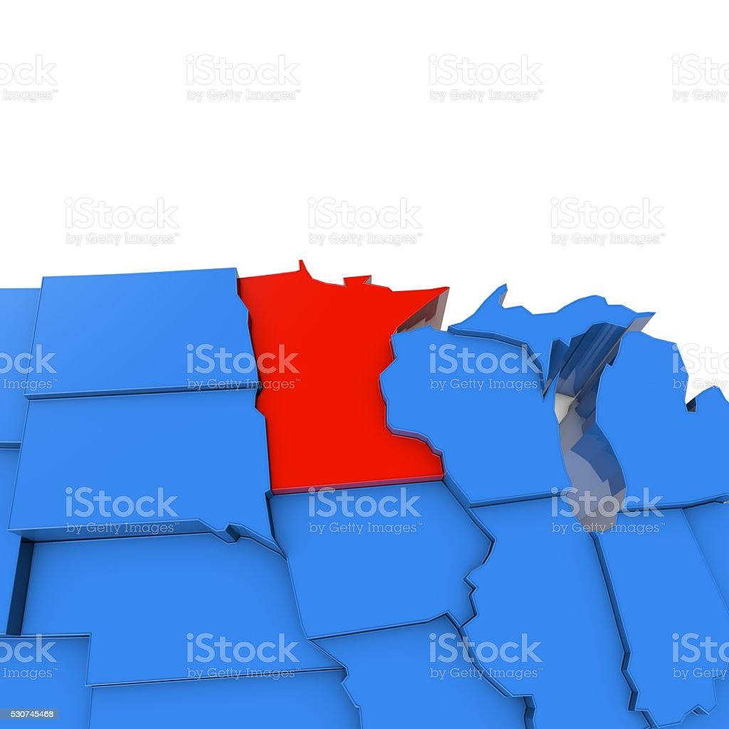 Geographical Map Of Minnesota And Minnesota Geographical Maps - Map of the us with mn highlighted