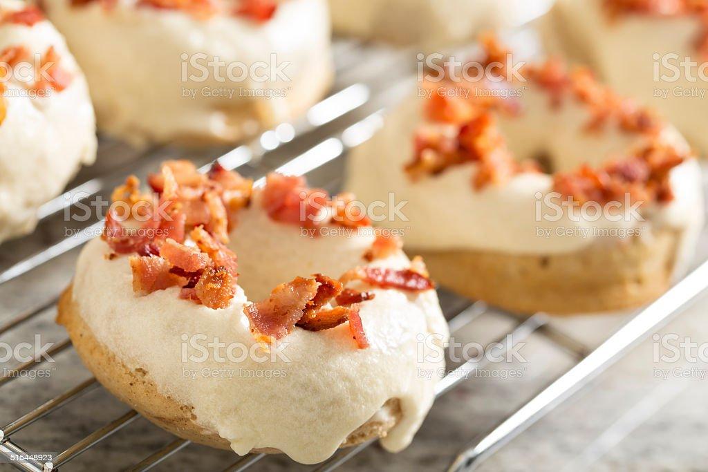 Maple Bacon Donuts stock photo