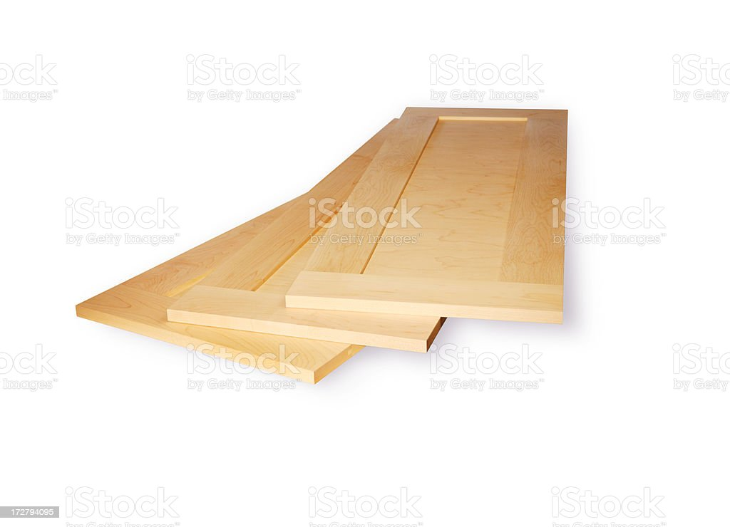 Maple Boards with Clipping Path royalty-free stock photo