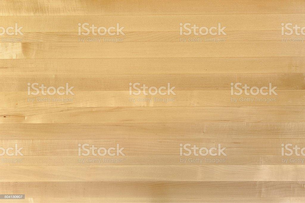 Maple Butcher Block Wood Grain Background royalty-free stock photo