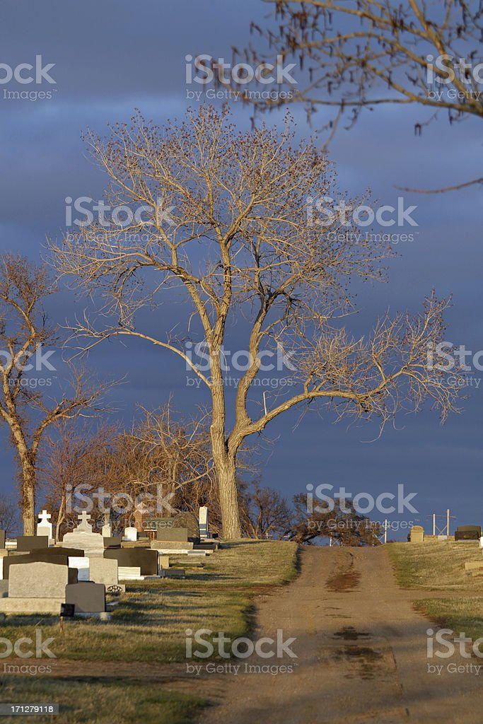 Maple Creek Cemetery royalty-free stock photo