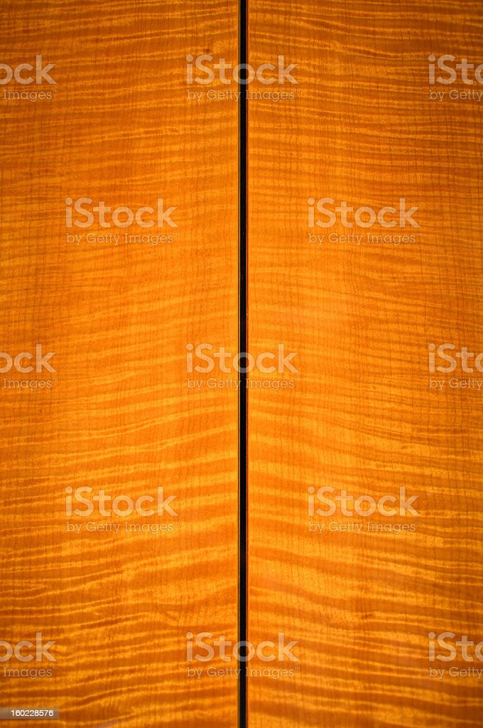 Maple Guitar Back stock photo