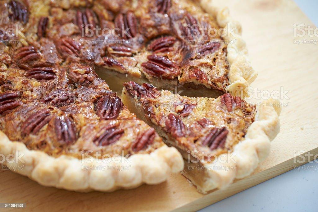 Maple nut tart stock photo