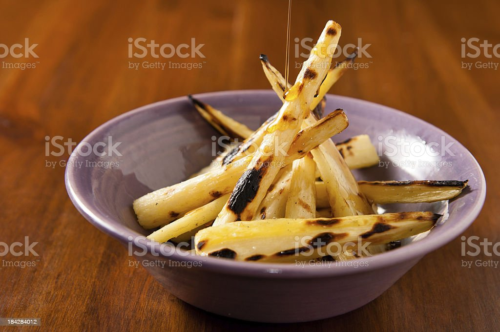 Maple Roasted Parsnips royalty-free stock photo