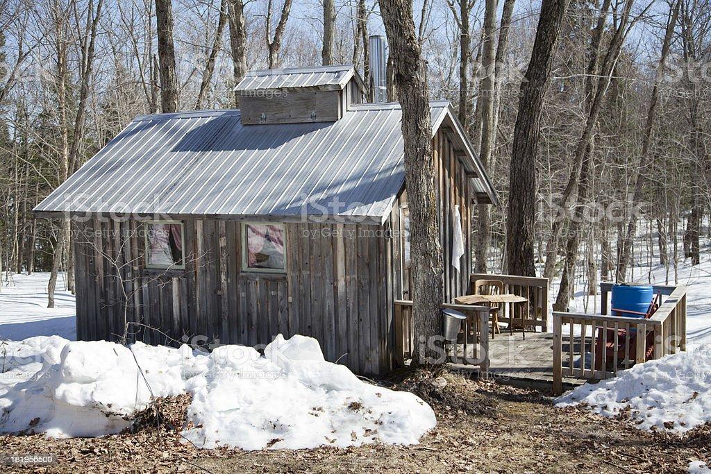Maple Sugar House royalty-free stock photo