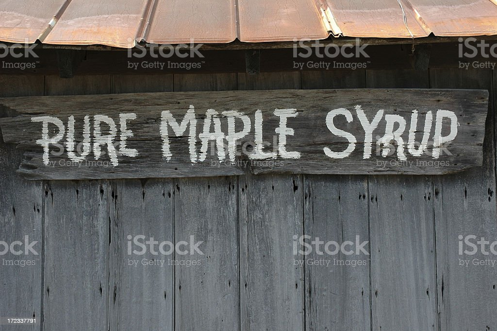 Maple Syrup Sign royalty-free stock photo