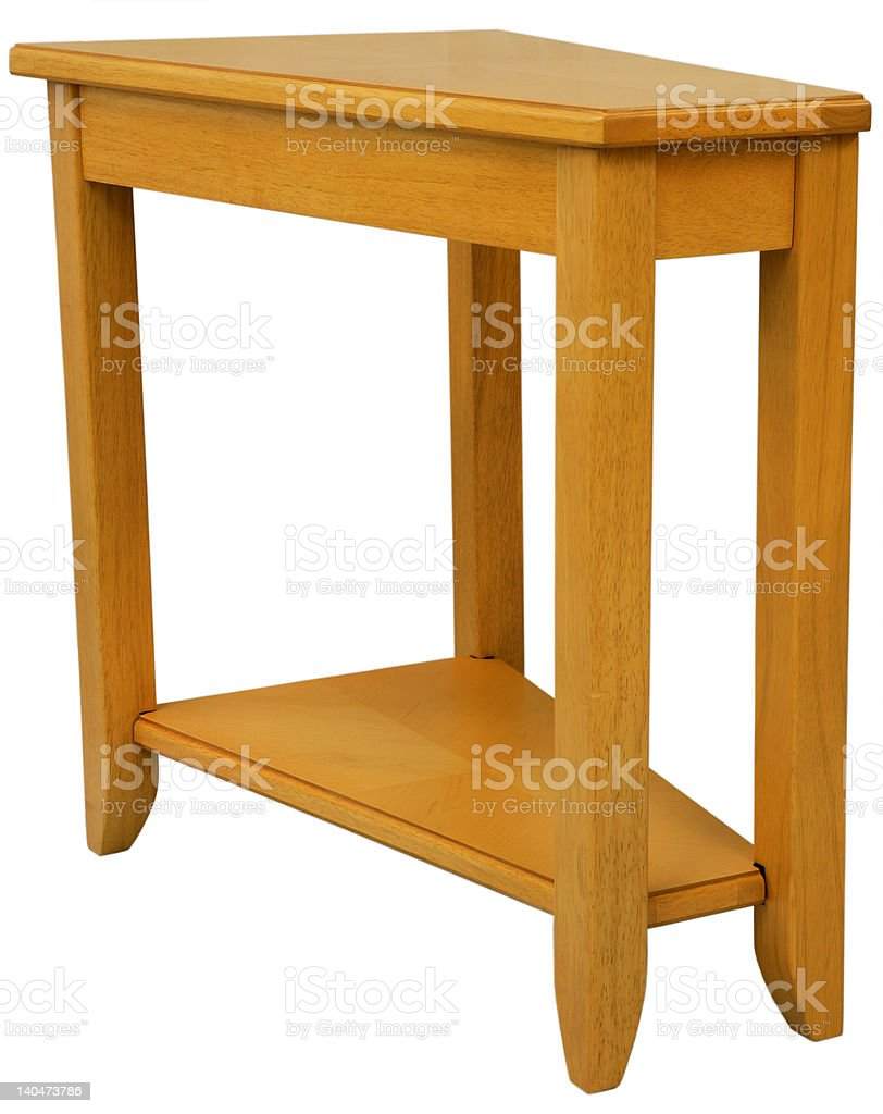 Maple Wood End Table royalty-free stock photo