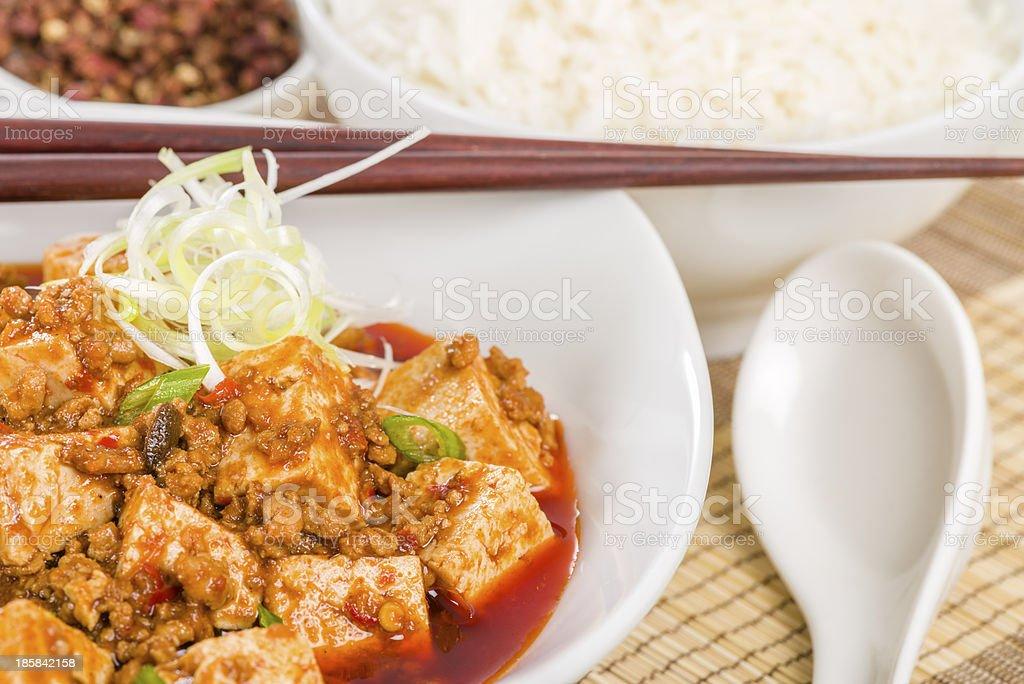 Mapo Tofu (????) royalty-free stock photo