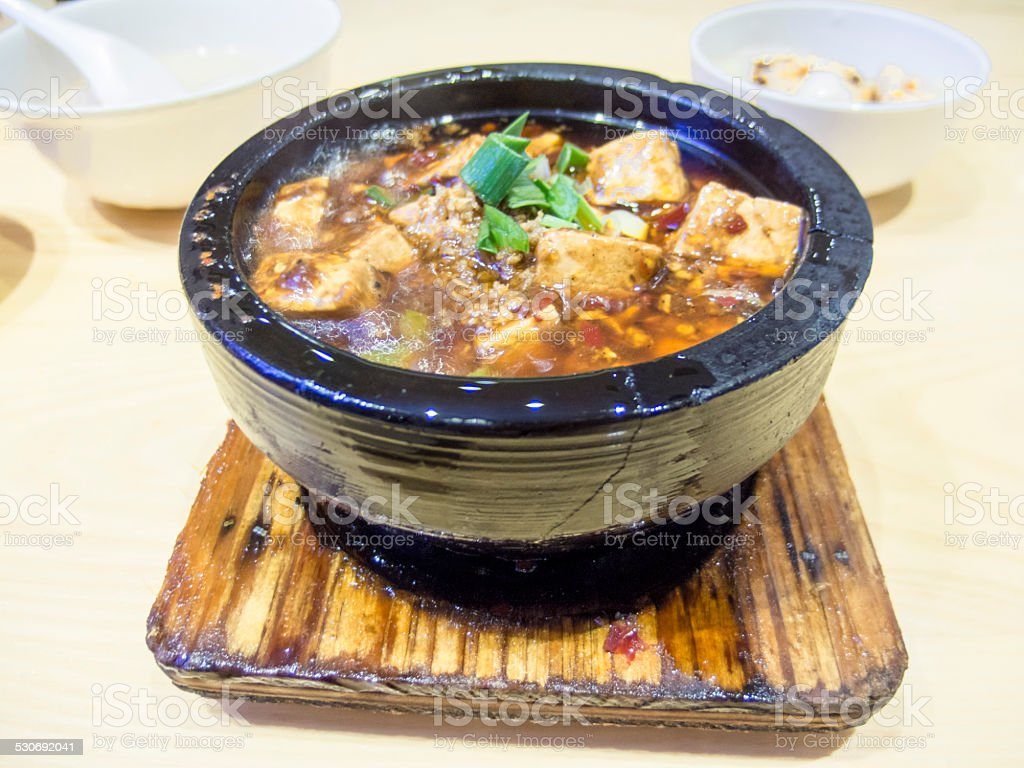 Mapo Tofu (????) stock photo