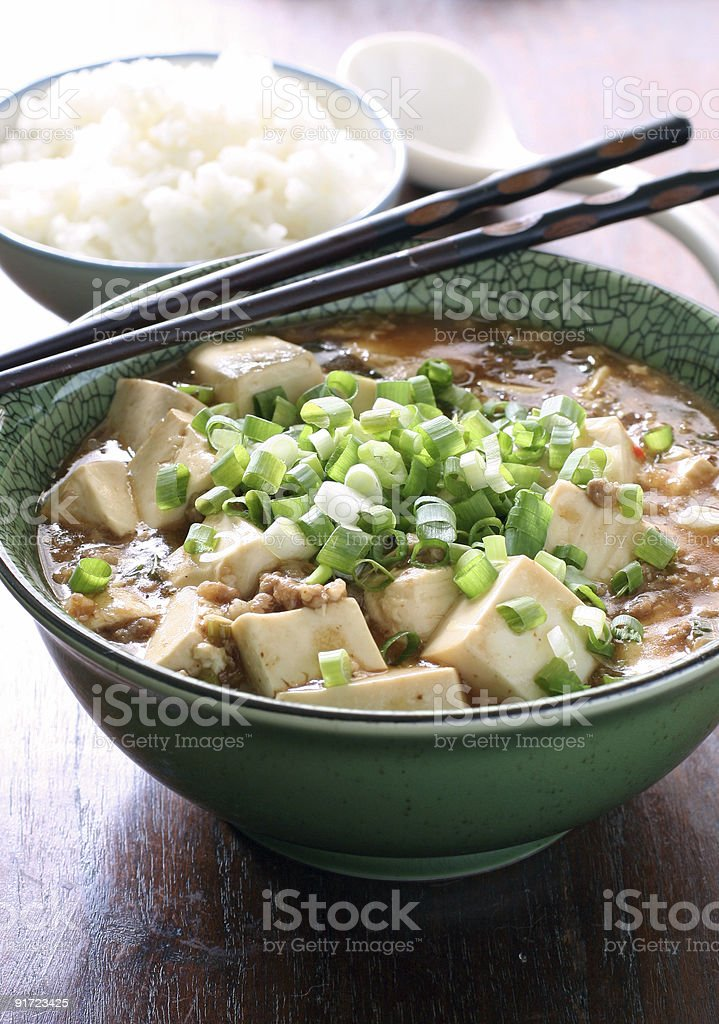 Mapo Tofu royalty-free stock photo