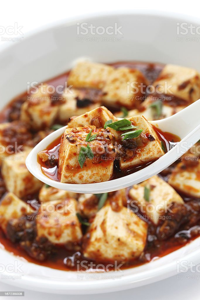 mapo tofu, sichuan style royalty-free stock photo