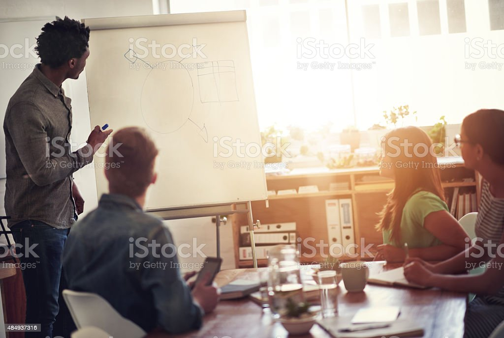 Mapping out their path to success stock photo
