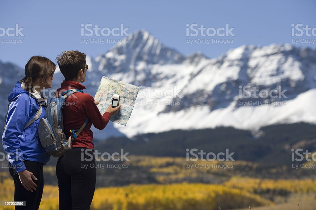 Mapping with a GPS royalty-free stock photo
