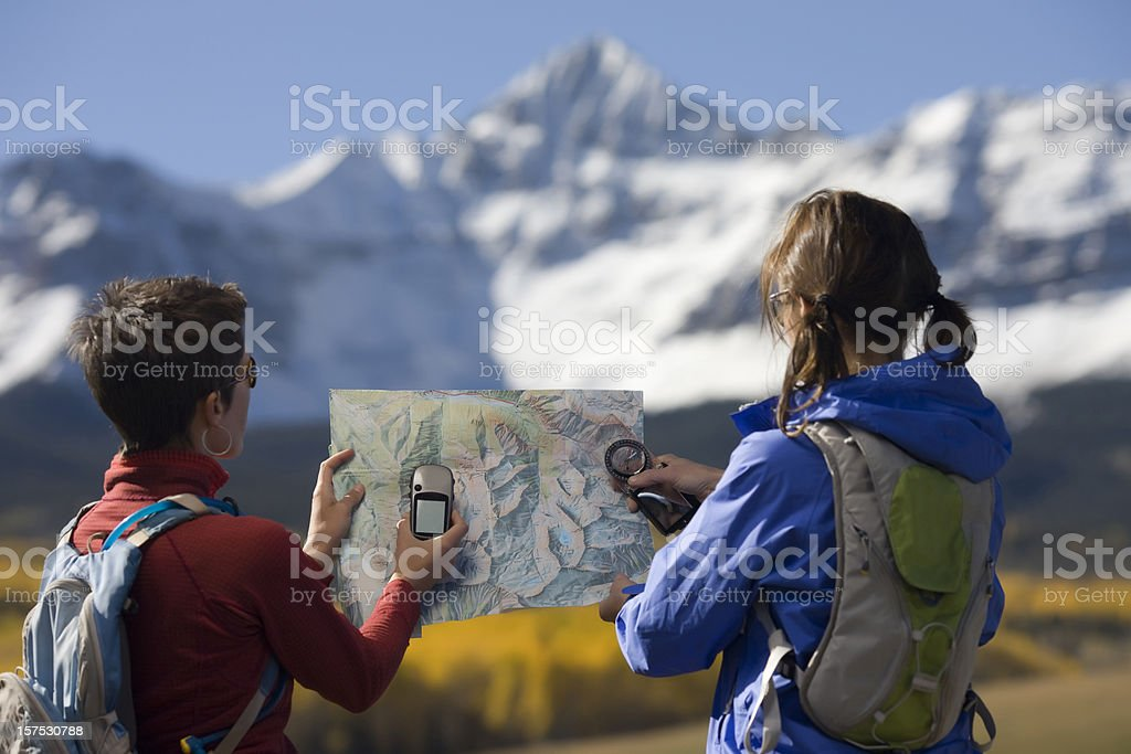 Mapping with a GPS stock photo