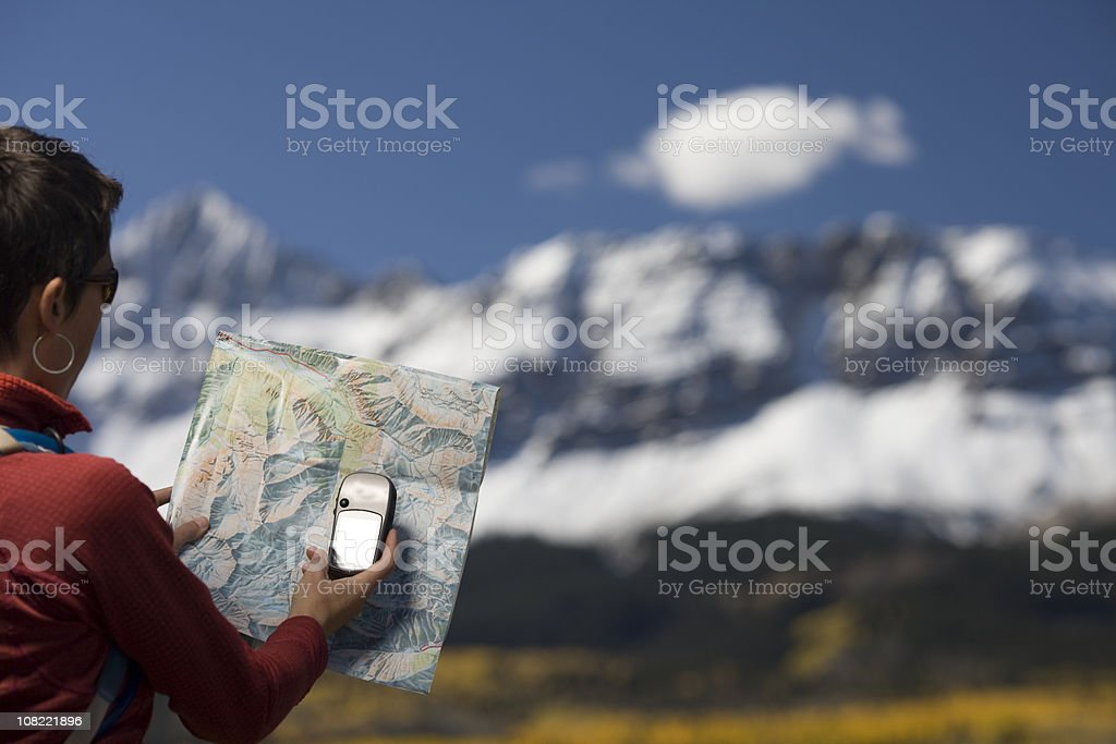 Mapping with GPS royalty-free stock photo